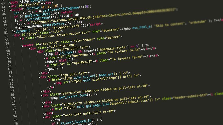 プログラミング言語が羅列されているPCの画面